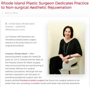 Dr. Polacek focuses her plastic surgery practice solely on minimally invasive aesthetic rejuvenation.